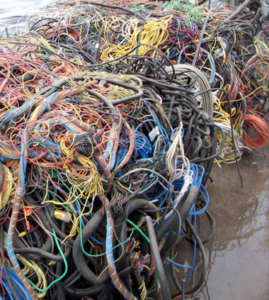 Insulated Copper Wire or ICW recycling at Davis Trading